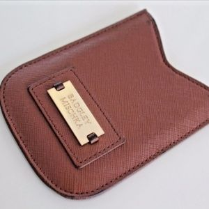 BADGLEY MISCHKA BROWN PHONE HOLDER POCKET POUCH